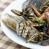 cooked insects