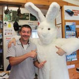 OneKind Hare and shopkeeper in Aviemore