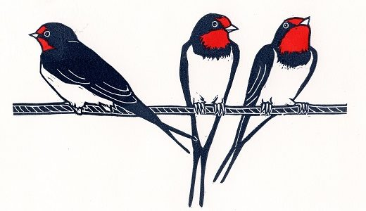 swallows_linocut