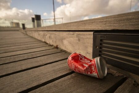 Coke can - litter has increased during lockdown.