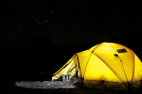Camping and stargazing - nature-themed summer